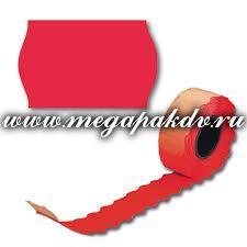Этикет-лента TOVEL 26х16, красная, волна, 1*10 рул. (200 рул./20 уп. в кор.)